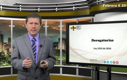 Reforma Tributaria Derogatorias