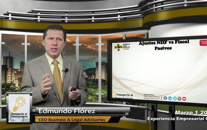 Reforma Tributaria 2016 NIIF vs Fiscal Activo Pasivos