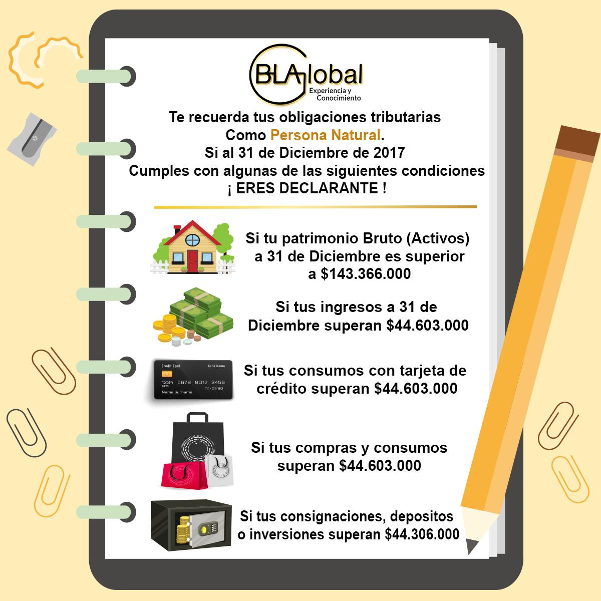 Plantilla consulta declarantes renta 2017 | BlaColombia